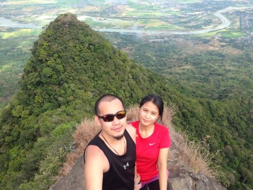 Emman and Monica on the South Peak