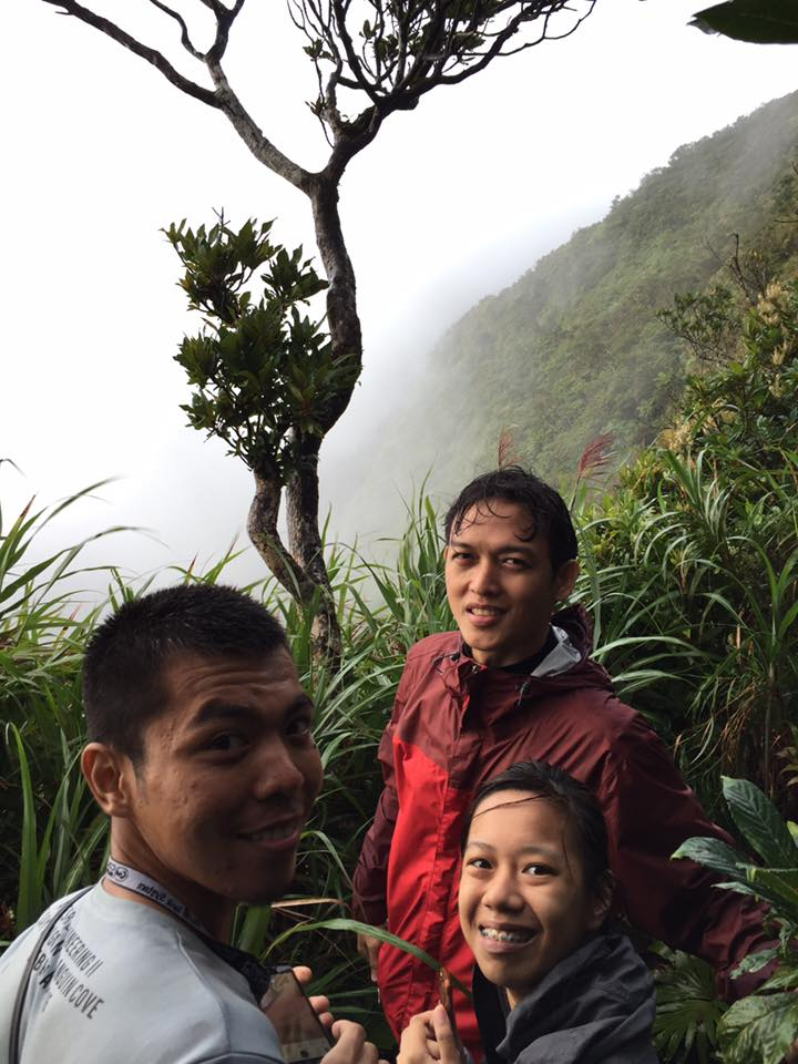 Angel, Ole, and I on the summit of Mt. Isarog.