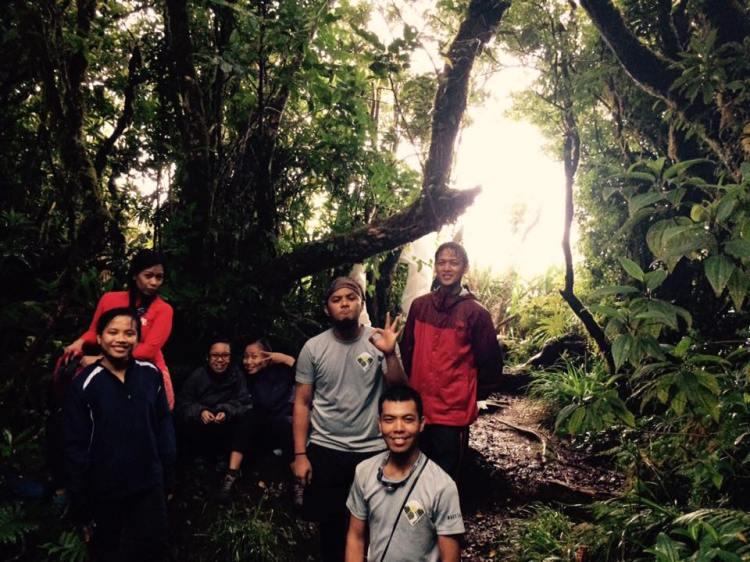 The group on the summit of Mt. Isarog. Darlene, Kai