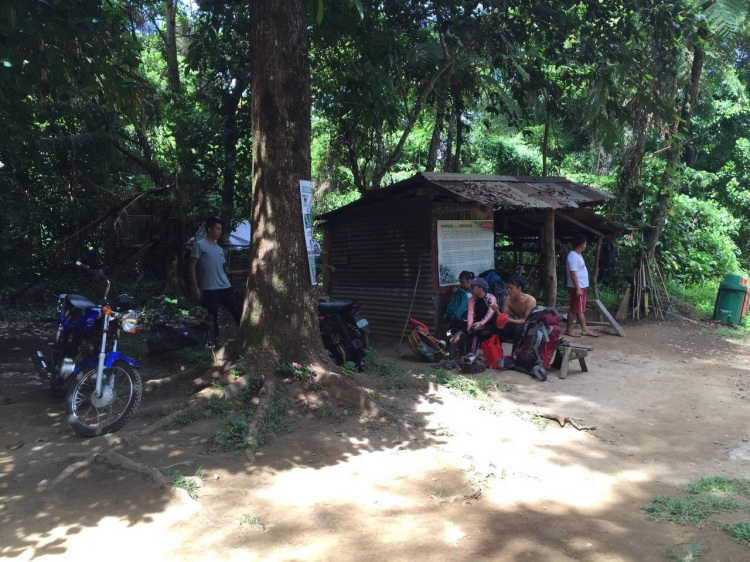 We took a rest after repacking and eating merienda at our jump-off point by the DENR staff hut.
